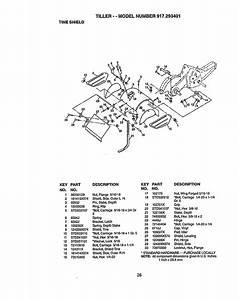 Craftsman 917293401 User Manual Rear Tine Tiller Manuals