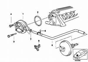 Original Parts For E38 725tds M51 Sedan    Engine   Vacuum Pump With Tubes