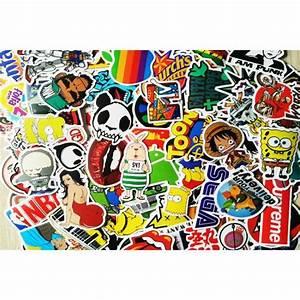 Autocollant De Marque : lot 100 stickers dont marques skateboard pour skate velo ordi guitare pc sticker achat vente ~ Gottalentnigeria.com Avis de Voitures