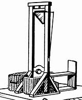 Guillotine sketch template