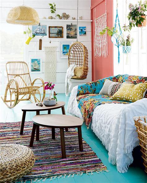 highlow colourful boho chic cottage sitting room style