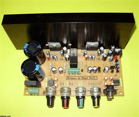 tda7294 stereo lifier circuit of controlled loudspeaker