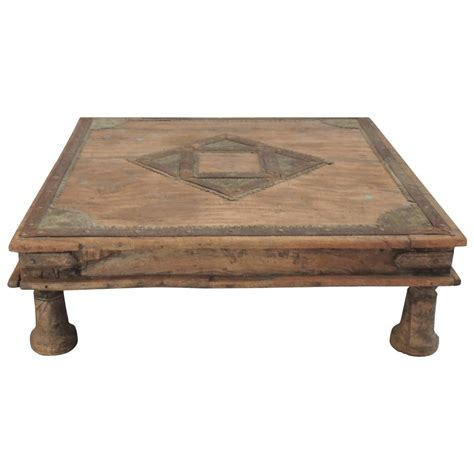 Indian Low Coffee Table At 1stdibs