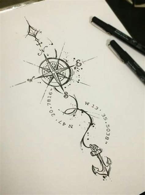 ideas  tatouage boussole femme  pinterest