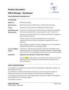 best bookkeeper resume sle 27 best bookkeeper resume for description vntask