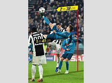 Real Madrid Cristiano Ronaldo hit the overhead kick from