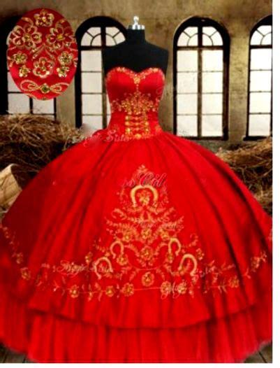 red quinceanera dresses vestido de quinceanera