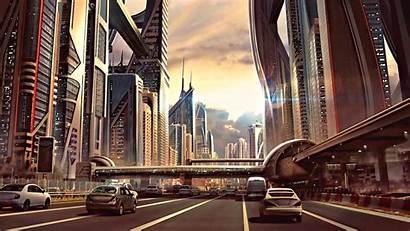 Futuristic Concept Fiction 3d Science Artwork Cyber