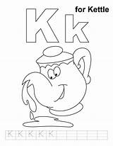 Kettle Coloring Pages Tea Preschool Alphabet Practice Letter Handwriting Worksheets Template Activities Bestcoloringpages Printable Sheets Templates sketch template