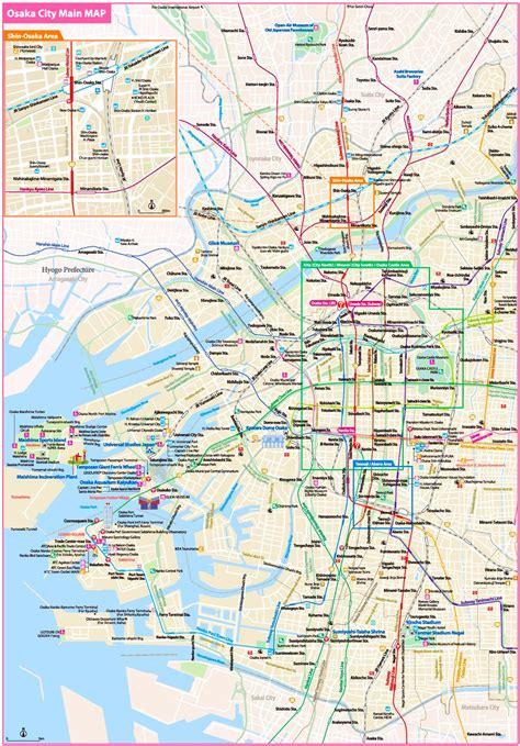 osaka tourist map