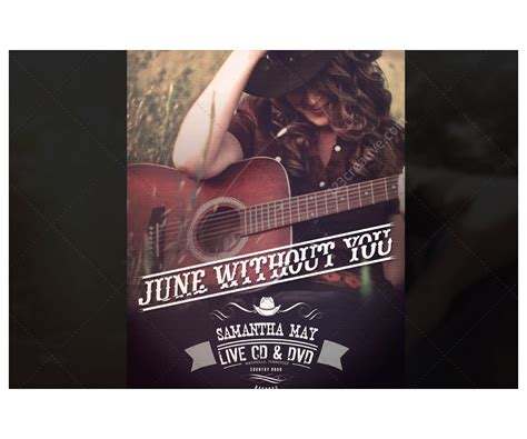 country poster template country music poster template vintage style with
