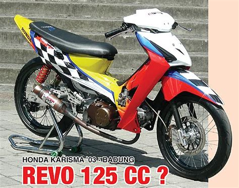 Modifikasi Smash 110cc by Modifikasi Honda Karisma 03 Honda Motorcycle Sports