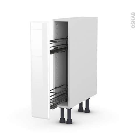 meuble a epices cuisine meuble de cuisine range 233 pice epoxy iris blanc 1 porte l15 x h70 x p58 cm oskab