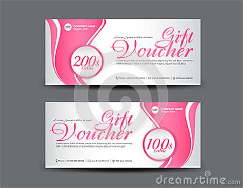 pink gift voucher template coupon layout flyer design