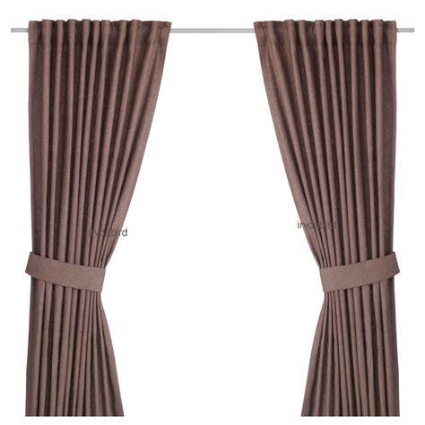 ikea ingert curtains 57x118 quot brown window drapes
