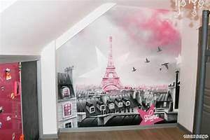 Décoration Murale Chambre Fille : chambres de filles d coration graffiti hard deco ~ Teatrodelosmanantiales.com Idées de Décoration