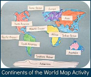 Continents of the World Map Activity for Kids   For kids ...