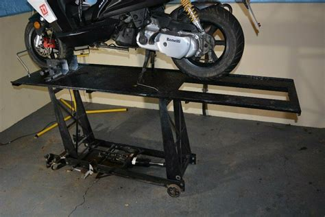 lbs motorbike ramp hydraulic lift table work bench