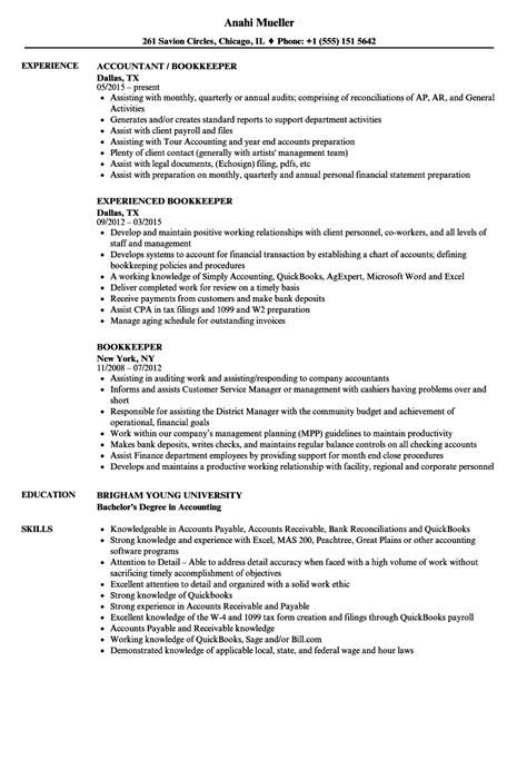 Bookkeeper Resume Sample Summary | db-excel.com