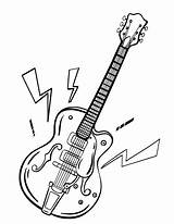 Guitar Coloring Pages Printable Colouring Pdf Coloringcafe Guitars Sheets Rock Sheet Clip Stamps Digi Drawing Musical Patterns Embroidery Hand Digital sketch template