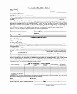 beautiful partial lien waiver template contemporary With partial lien waiver template