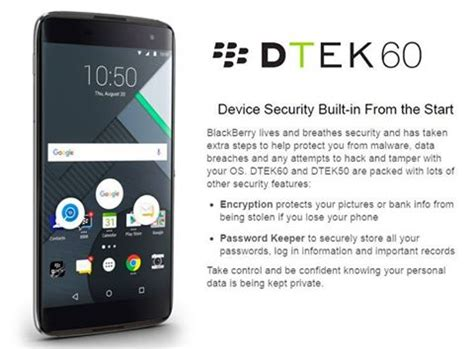 blackberry dtek60 launched with 820 and 4gb ram