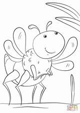 Coloring Cartoon Insect Pages Bug Animated Printable Insects Squash Print Paper Categories sketch template