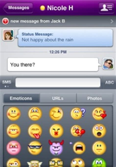 yahoo messenger for iphone yahoo messenger popular instant messaging app comes to