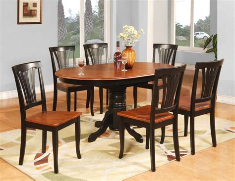 wooden dining table and 6 chairs 7pc avon oval kitchen dining table w 6 wood seat chairs