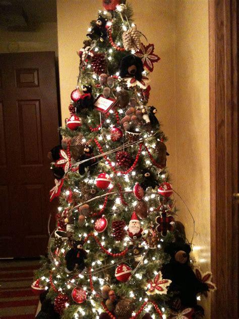black bear christmas tree black bear decor pinterest