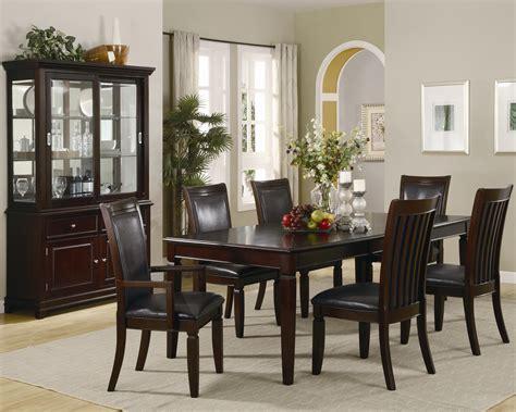 Transitional Walnut Finish Wooden Dining Room Transitional
