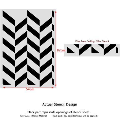 Chevron Template For Walls Herringbone Chevron Pattern Wall Stencil Bliss For