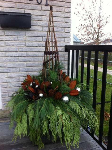 winter planter gardening ideas pinterest winter