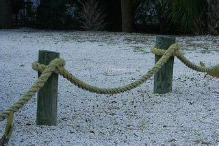 build  seaside rope fence   nautical