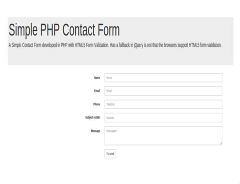 simple contact form 30 best php contact form templates free premium templates
