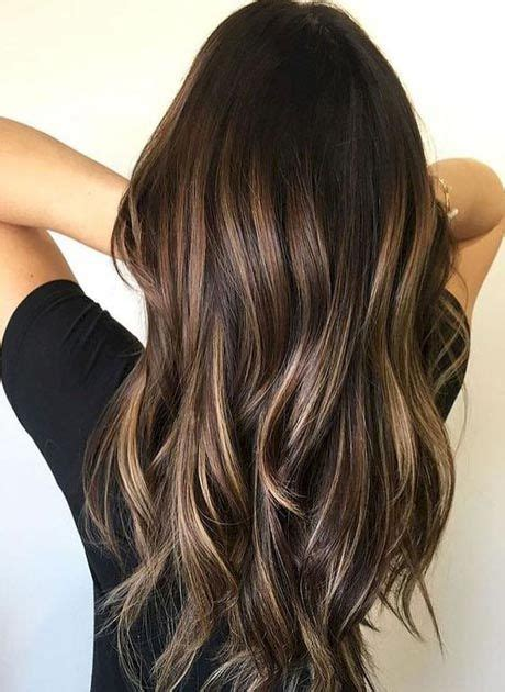 brunette balayage color ideas coiffures populaires