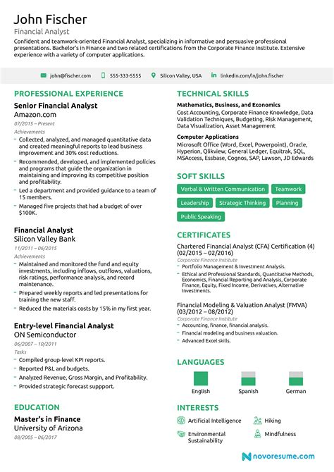 Financial Analyst Skills Resume by Financial Analyst Resume 2019 Guide Exles