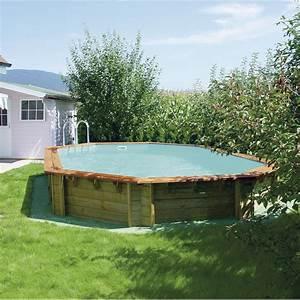 Piscine Semi Enterrée Coque : piscine hors sol bois odyssea l 8 4 x l x h m ~ Melissatoandfro.com Idées de Décoration