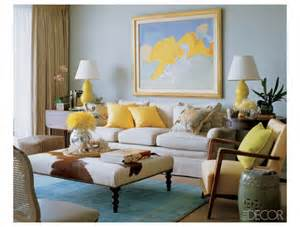 Beach Living Room with Yellow