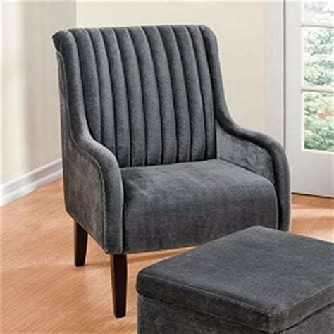 wide tufted chair ottoman home style