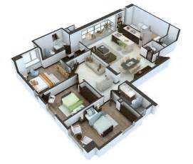 floor layout free 25 more 3 bedroom 3d floor plans architecture design