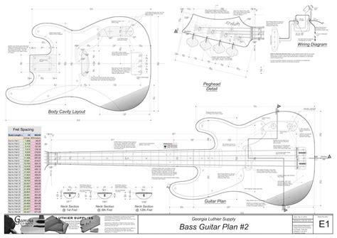 bass headstock template danelectro electric guitar plans