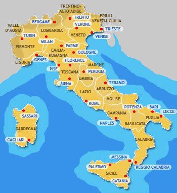 Carte Italie Villes by Infos Sur Italie Ville Carte Arts Et Voyages