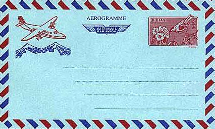 bhutan postal stationery catalog air letters