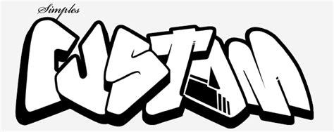 Graffiti Easy :  2 Sketch Graffiti Wildstyle And Simple Design