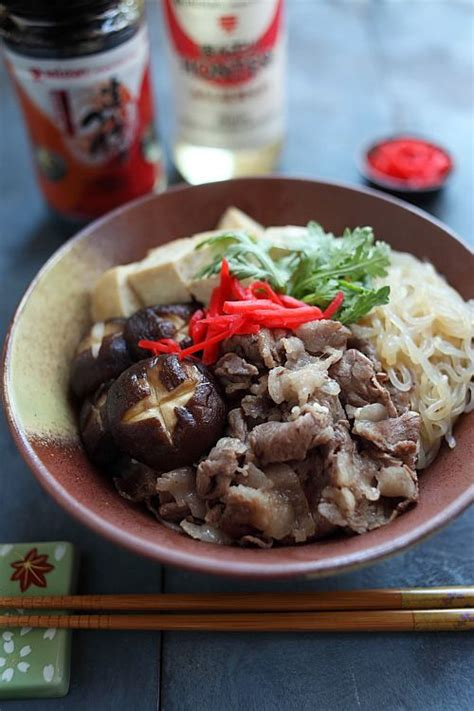 traditional sukiyaki japanese beef pot recipe dishmaps