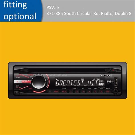 Sony Car Stereo Cdxgt440u  Fitting Service Available For