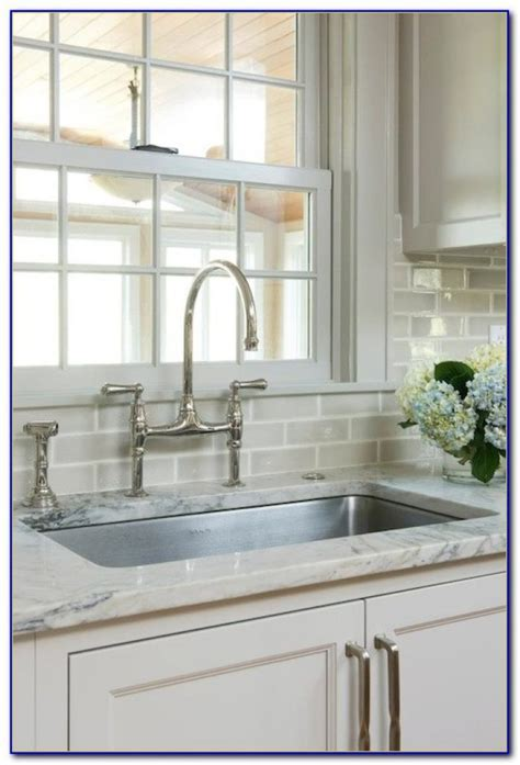 Beveled Subway Tile Backsplash Houzz   Tiles : Home Design