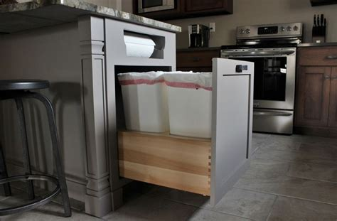modern kitchen trash  ideas  good waste management