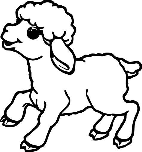 color sheep small sheep coloring page wecoloringpage
